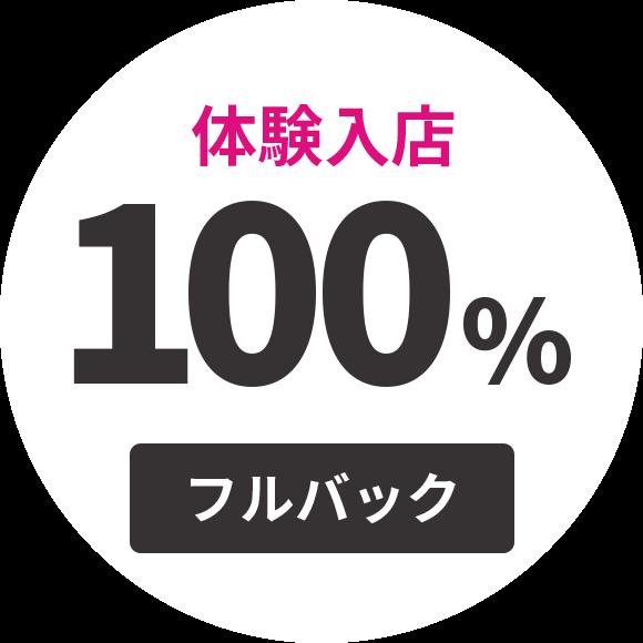 体験入店100%フルバック
